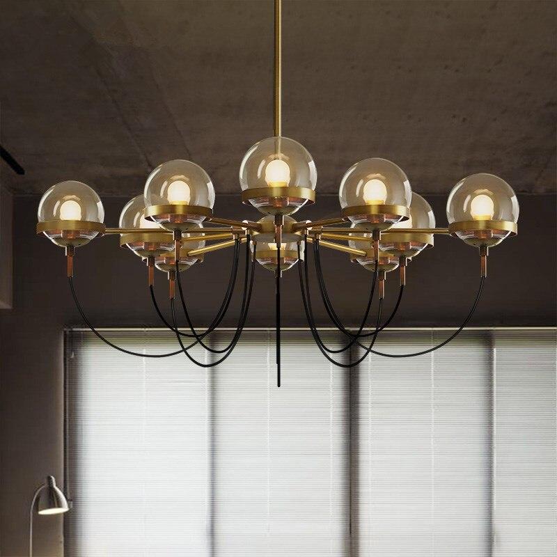 ثريا E27 Led زجاجية كهرمانية ، تصميم أمريكي قديم ، إضاءة داخلية ، مصباح سقف ، مثالي للعرض