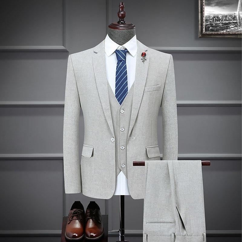 Новинка Весна 2021, Молодежные профессиональные костюмы, свадебные костюмы-тройки, мужские костюмы, мужские костюмы из 3-х предметов