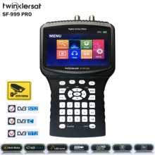 """Compteur de Signal combiné HD scintillant SF-999 Pro 4.3 """"écran caméra de vidéosurveillance DVB S2 DVB T2 DVB C spectre USB WiFi Youtube CCCam Satfinder"""