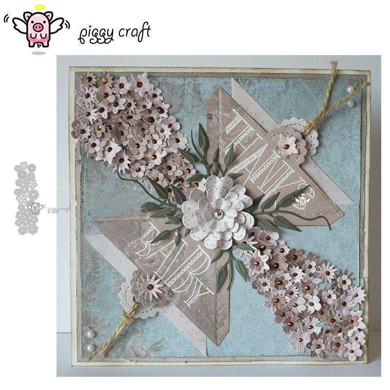Manualidad de cerdito troqueles de corte de metal, plantilla de corte de varios pétalos de flores, álbum de recortes, molde artesanal para corte de papel, plantillas para perforar con cuchillas