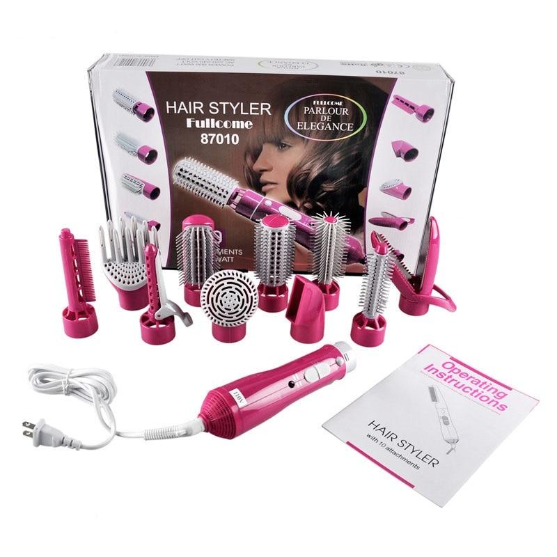 10 In 1 Een Stap Föhn Elektrische & Volumizer Hot Air Brush Rechttrekken En Curling Haar Tools Multifunctionele styling Tool enlarge