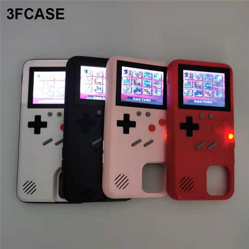 La pantalla a Color 36 juego caja del teléfono para iPhone 11 Pro Max 6 7 8 Plus SE 2020 Gameboy Coque para iPhone X Xs X Max Xr caso Funda