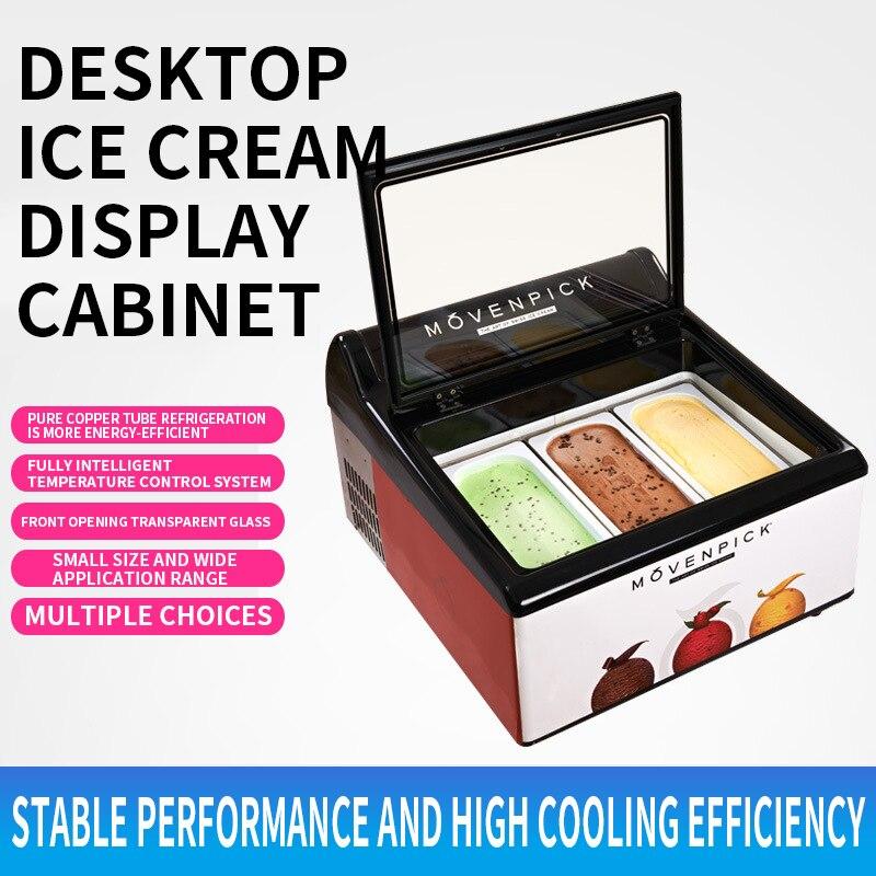 Commercial ice cream dessert freezer Desktop ice cream frozen float custom display cabinet Commercial freezer