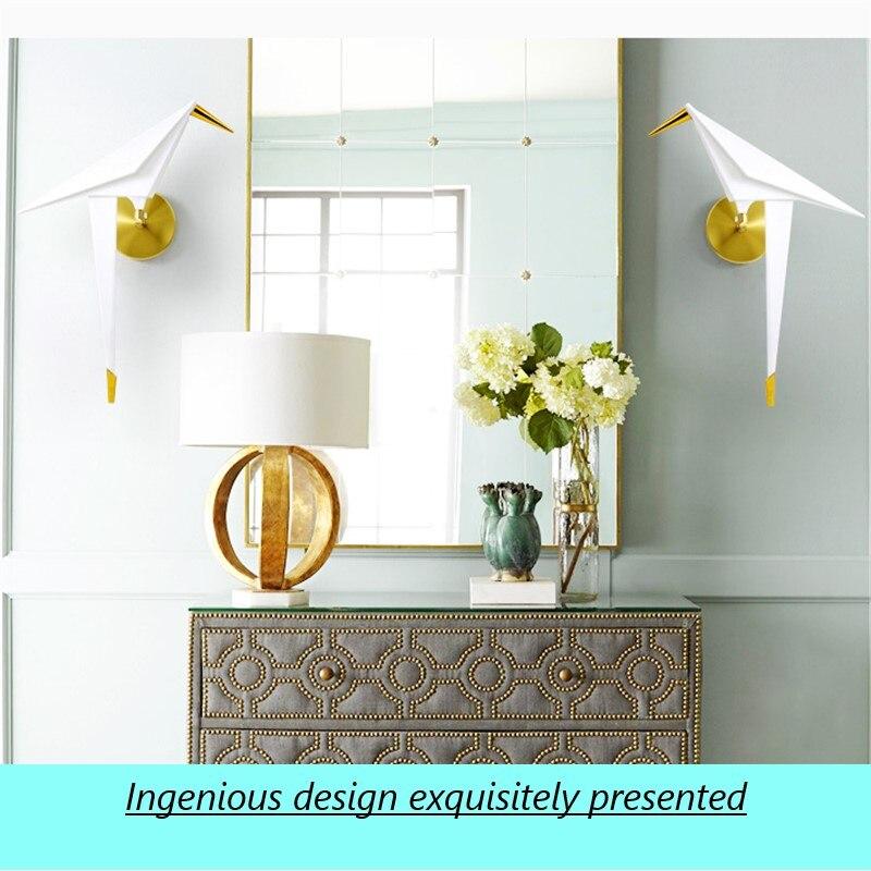 مصباح جداري LED حديث على شكل طائر إسكندنافي ، مصباح بجانب السرير لغرفة النوم ، مرآة الحمام ، ديكور المنزل