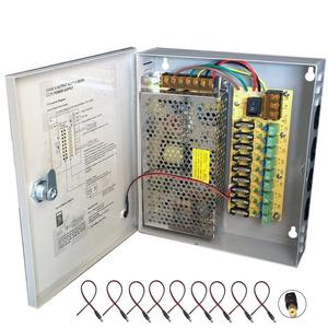 9CH AC100-240V To DC12V 5A 10A 15A Power Supply Box Adapter Transformer for CCTV Security Camera LED Strip String Light
