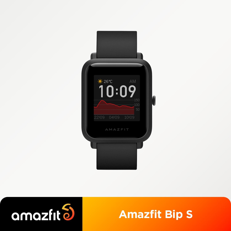 متوفر Amazfit Bip S الإصدار العالمي Smartwatch 5ATM لتحديد المواقع غلوناس ساعة ذكية للهاتف أندرويد iOS