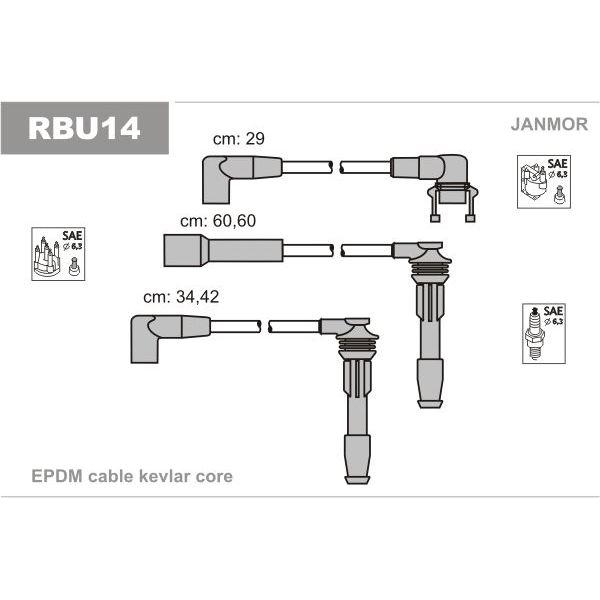Комплект проводов зажигания RENAULT: 19 I 88 92 II 91 95 CL Мотоциклетный стартер   