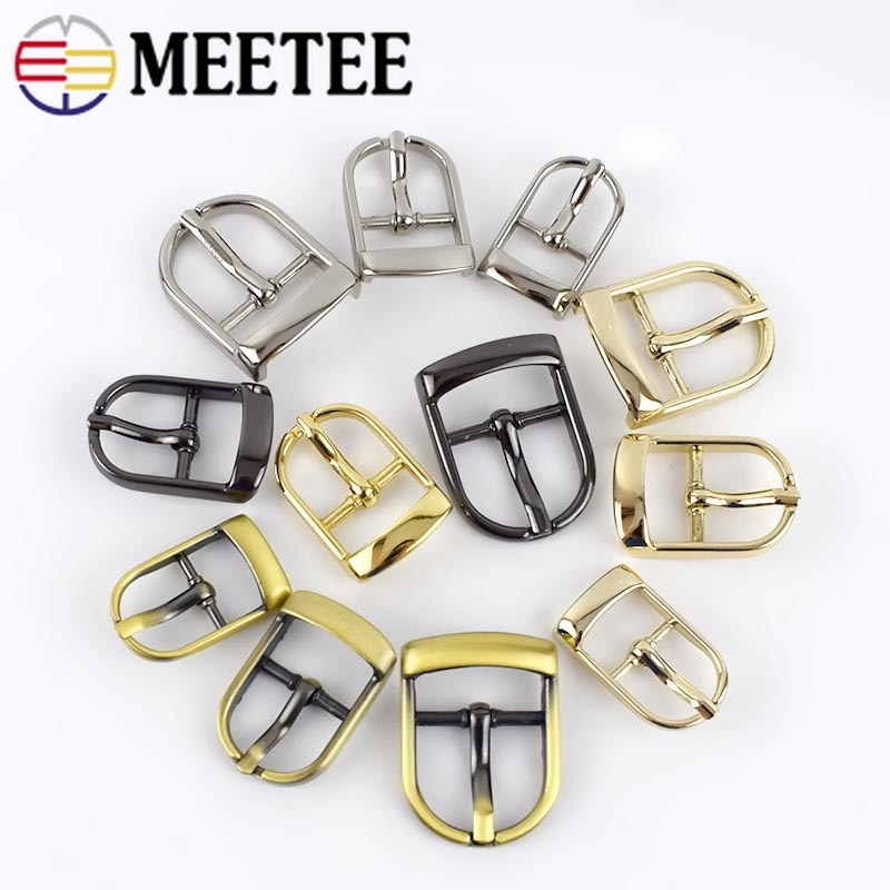 10pcs 13/16/20/25mm Metal Pin Belt Buckles Adjuster Bags Strap Slider Shoes Buckle Metal DIY Leather Hardware Accessories BF071