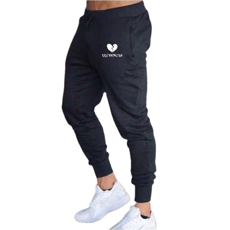 Спортивные штаны, мужские брюки, штаны для бега, мужские повседневные брендовые эластичные хлопковые штаны для спортзала и фитнеса, мужские...
