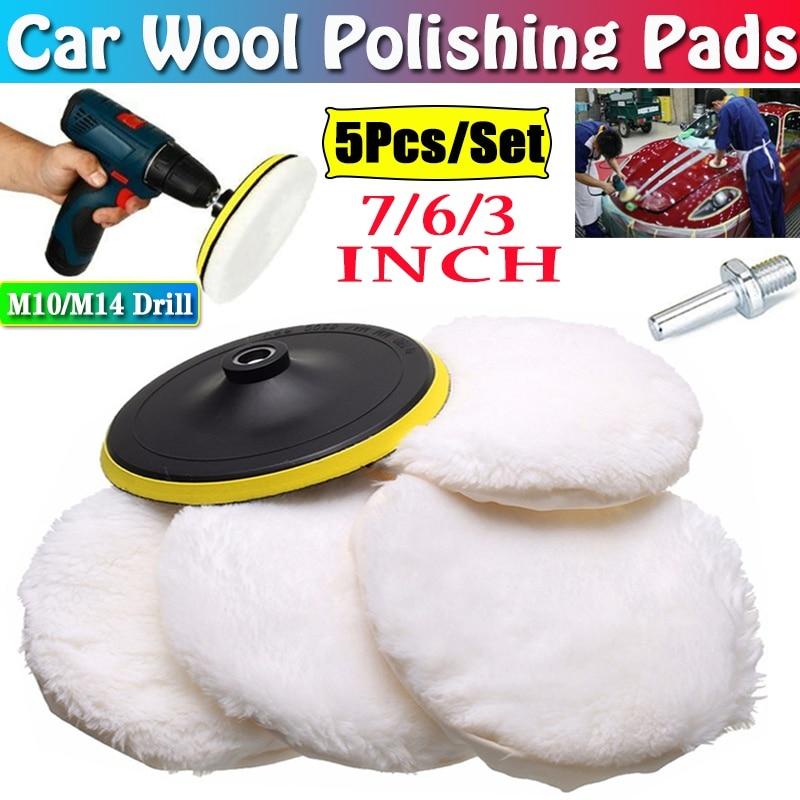 AliExpress - 5PCS/Set 7/6/3inch Car Polishing Waxing Buffing Wheel Pad Car Polisher Kit for Auto Car Paint Care Car-styling