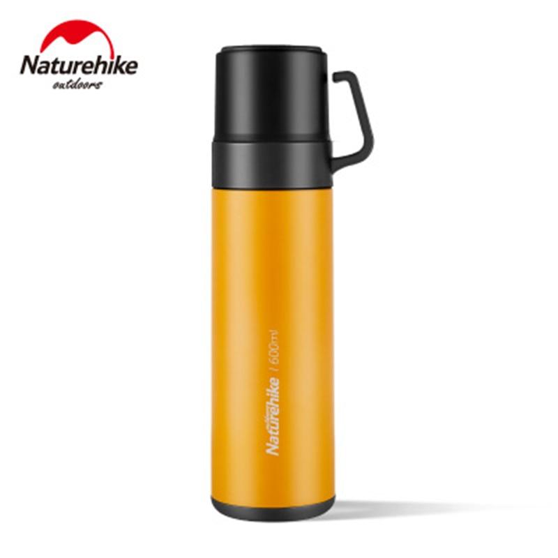 Natureigh-bouteille deau en acier inoxydable 600ml pour Camping en plein air, contenant sous vide bouilloire pour pique-nique voyage