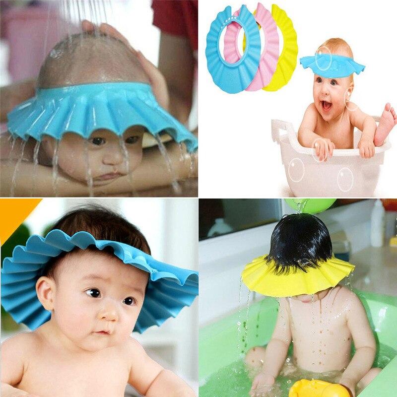 Productos de gorro de champú para bebés, gorro de protección para el oído de bebé para baños de niños de 3 años de edad