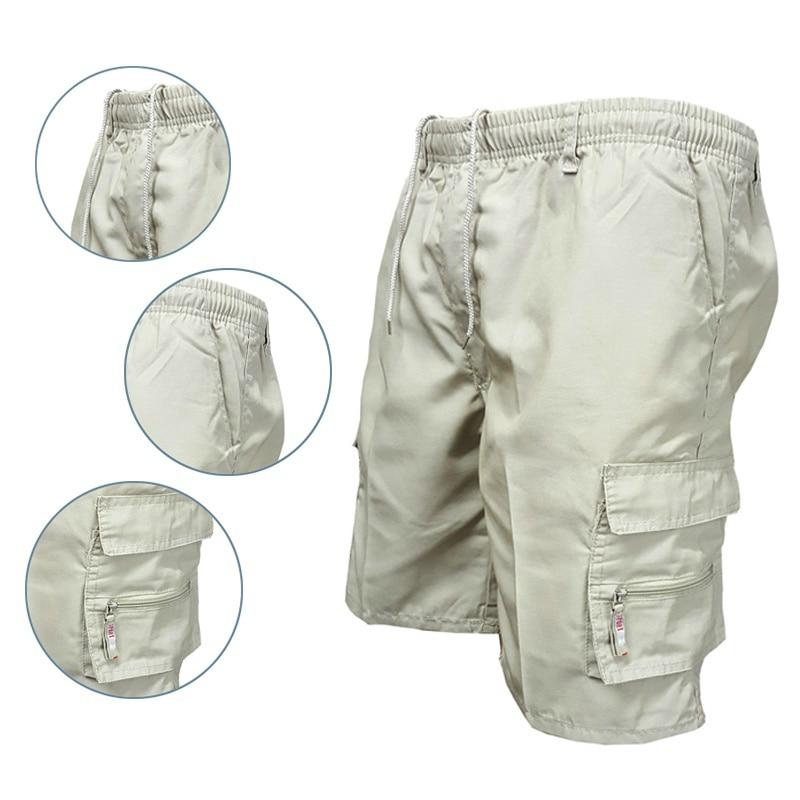 Мужские шорты-карго, крутые камуфляжные летние хлопковые повседневные мужские шорты, брендовая одежда, удобные камуфляжные шорты-Карго