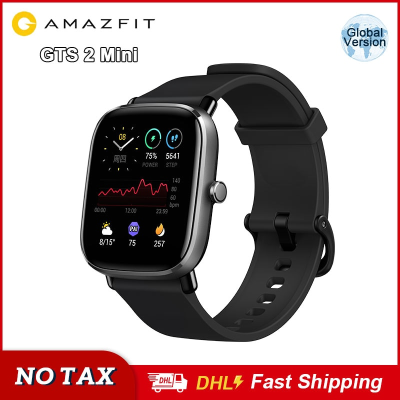 Amazfit GTS 2 Mini Smartwatch 1.55inch AMOLED Display Smart Watch Waterproof Fitness Tracker Sleep Monitoring For Android iOS