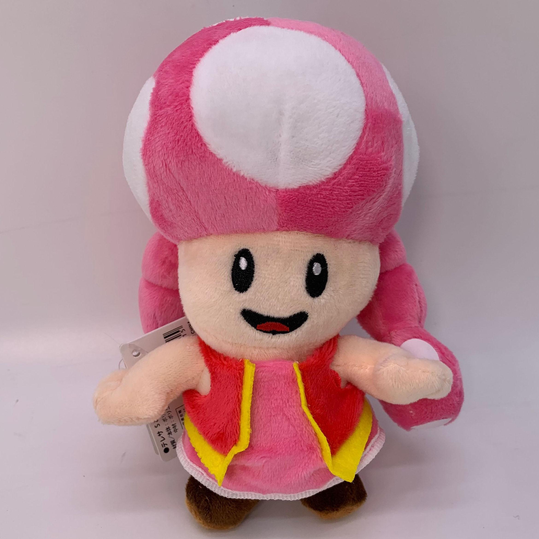 "Super Mario Toadette, muñeco de felpa, peluche suave de 6"""