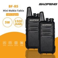 2 teile/los Baofeng BF-R5 Mini Handheld Walkie-talkie UHF Portable Two Way Radio USB Ladung FM Transceiver CB Radio station