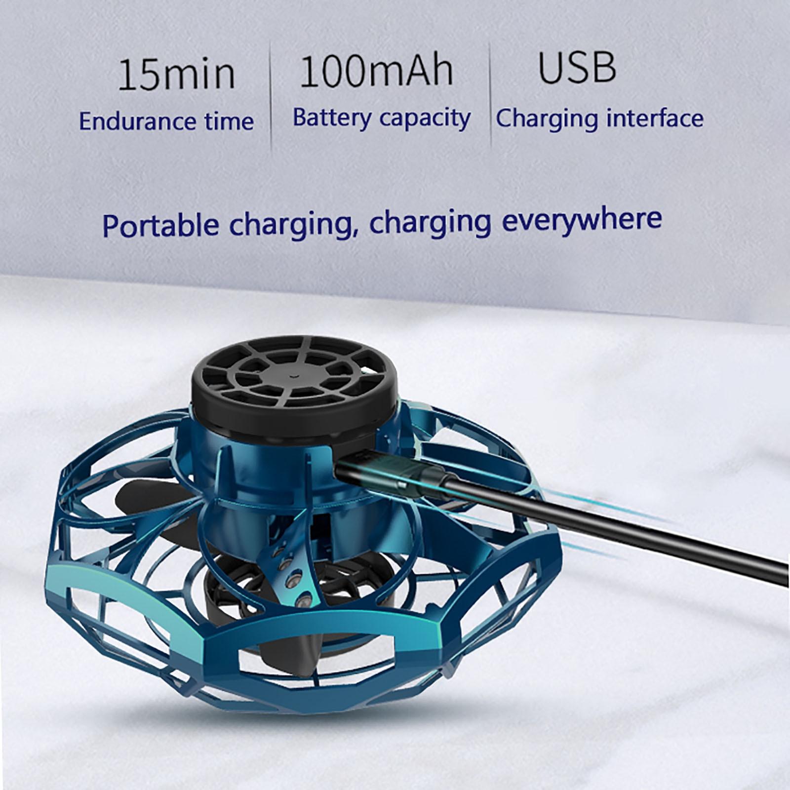 3D Rolling Induction Drone Quadcopter Mode Hover Toys For Children Flying Spinner Fidget Toys Antistress Hand Flynova волчок enlarge
