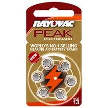 Hörgerät Batterien 6 PCS / 1 karte RAYOVAC PEAK-A13/PR48/S13 Zink Luft batterie 1,45 V Größe 13 durchmesser 7,9mm Dicke 5,4mm