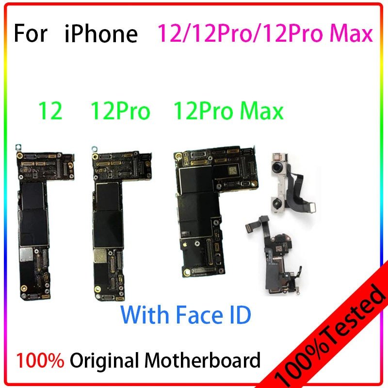 Get Original Unlocked For IPhone 11/11 Pro/11 Pro Max/12/12Pro/12 Pro Max Motherboard Full Chips NO Icloud Unlocked Logic Board test