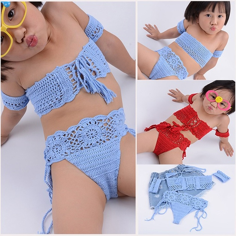 2018 moda verão das crianças das meninas das crianças oco mão-tecido algodão maiô cinta biquíni lote, criança maiô menina