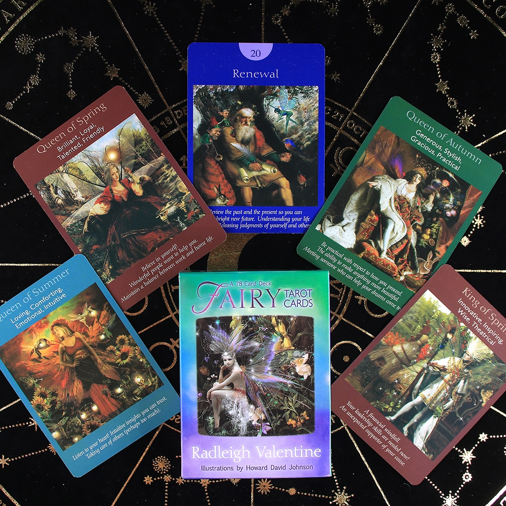 Tarot Cards A 78 Card Deck High Quality Board Oracle Party Game Divination For Beginners With Guidebook Card Game Board Game недорого