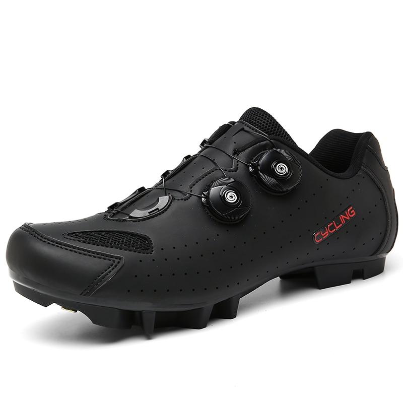 2021 New Flat Speed Women SPD Road Triathlon Race Cycling Shoes Men MTB Mountain Cleats Dirt Biking Sneakers Male Bicycle Shoes