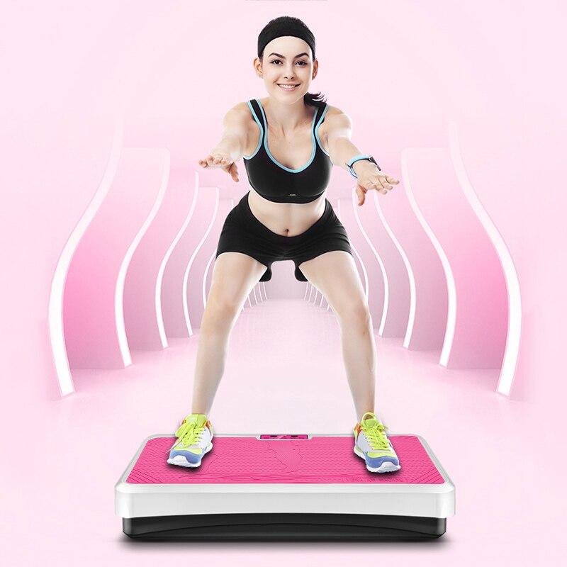 HOT Fitness Placa de quema de grasa vibración Fitness masajeador cuerpo moldeador para pérdida de peso entrenador de potencia Slim ejercicio equipo HWC