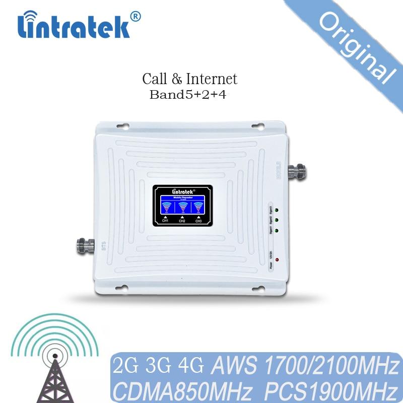 مكرر إشارة 850 ميجا هرتز 1900 1700 ، مضخم إشارة 2G 3G 4G B2 B4 B5 لجميع الدول في أمريكتان