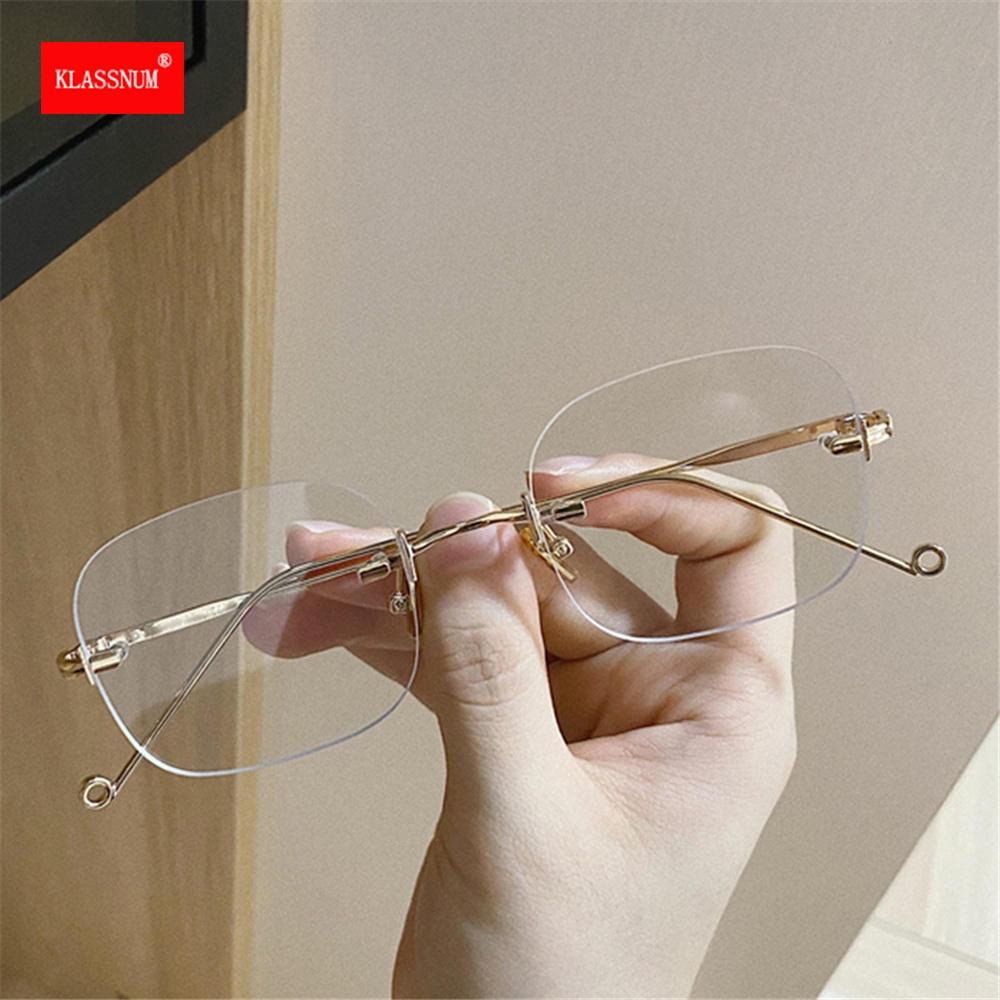 1PCs Anti Blue Light Square Eyeglasses Metal Frame Women&Men Computer Eye Protection Eyewear Optical