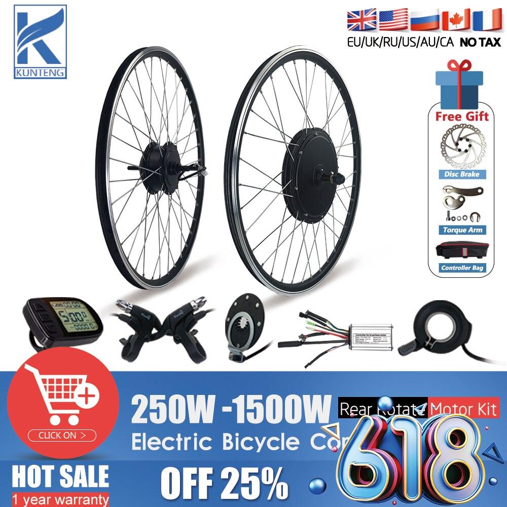 Kit de conversión de Bicicleta eléctrica, Motor de cubo de rueda trasera...