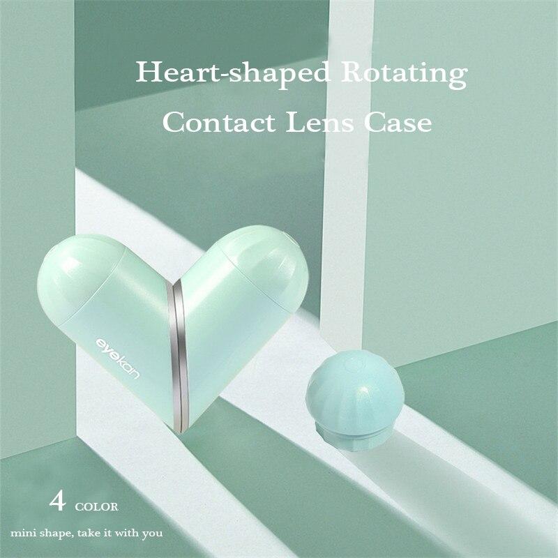 2020 novo amor mini lente de contato caso temperamento nobre contato lente caso caso óculos viagem caso caso confissão artefato