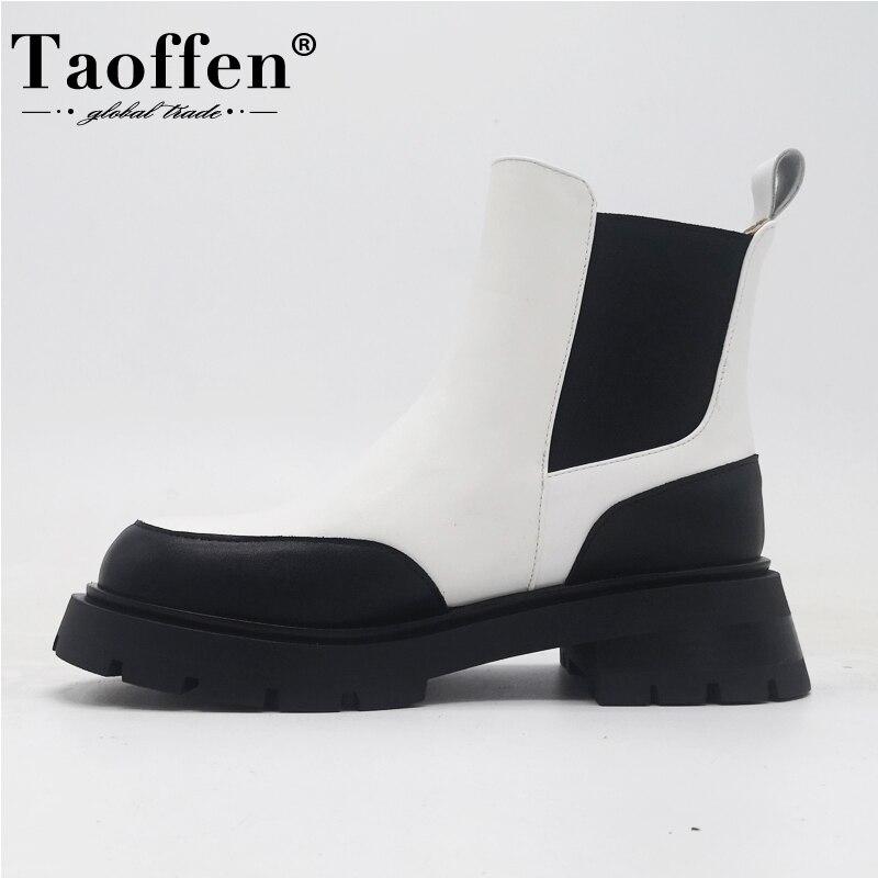 Женские ботильоны из натуральной кожи, на платформе, зимняя обувь, офисная обувь, размеры 34-39, 2021   Обувь   АлиЭкспресс
