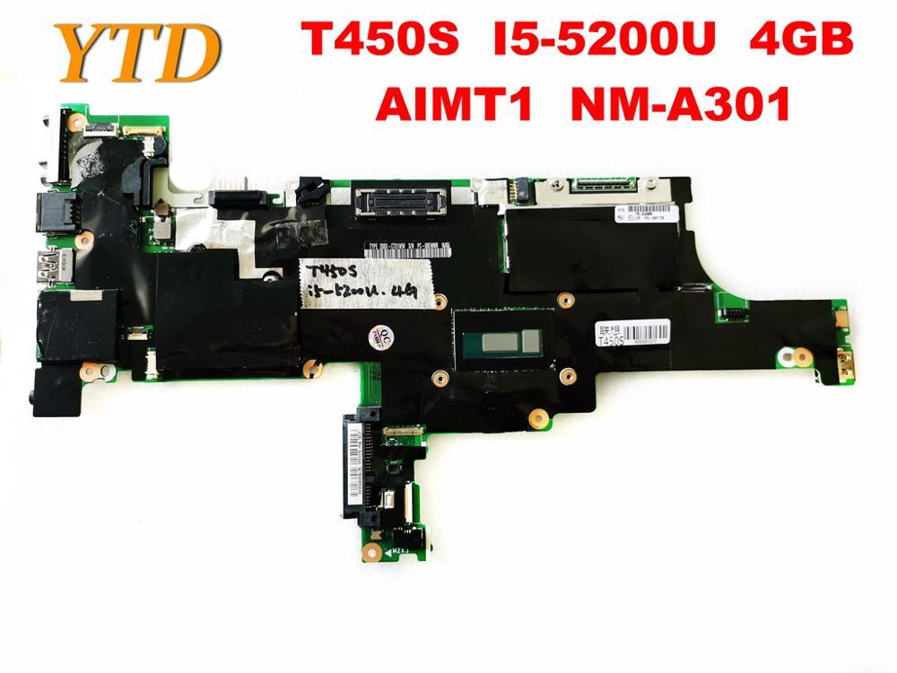 الأصلي لينوفو T450S اللوحة المحمول T450S I5-5200U 4GB AIMT1 NM-A301 اختبار جيد شحن مجاني