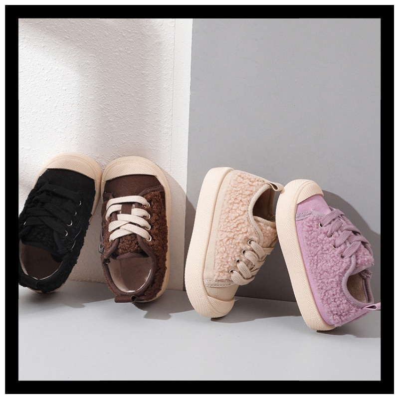 2021 Autumn and Winter New Children's Shoes Fashion Soft-soled Baby Cotton Shoes Boys Casual Shoes P