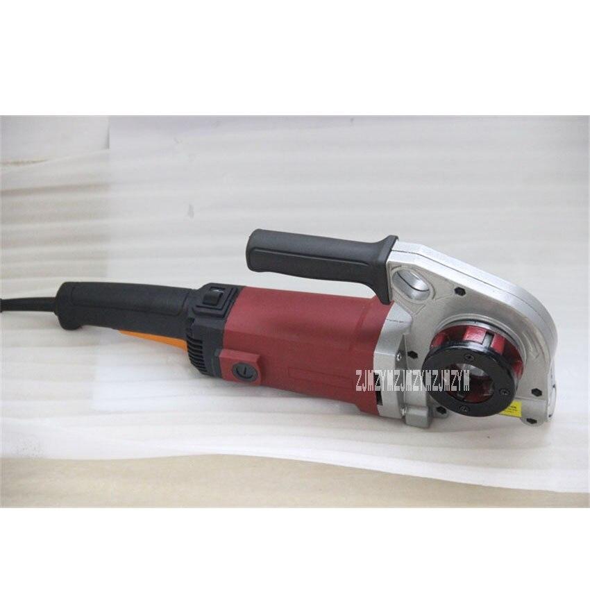 Enhebrador de hilo eléctrico de mano de GMTE-02, herramienta de procesamiento, máquina de roscado de tubos, máquina de roscado de 110V/220V 1400W 24r/min