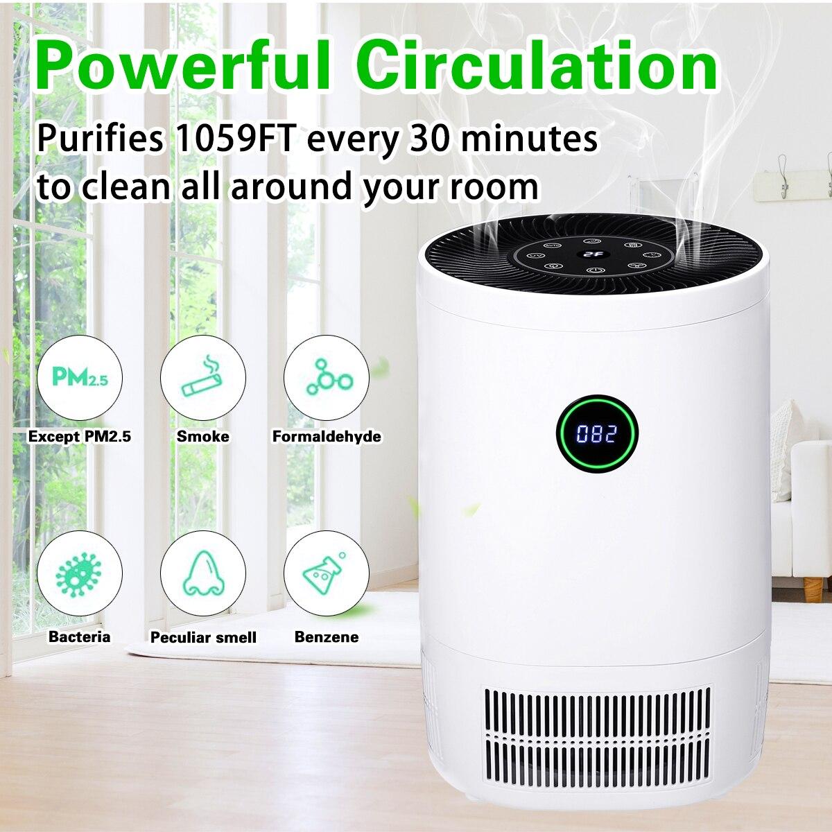 Очиститель, ионизатора воздуха AUGIENB для дома, настоящие HEPA фильтры, настольные очистители, фильтрация, очиститель воздуха 200 м3/ч, CE, для курит...