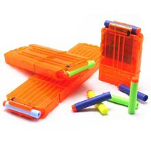 6/12/18 Orange Reload Clip For Nerf Magazine Round Darts Replacement Toy Gun Soft Bullet Clip For Nerf Blaster arma de brinquedo