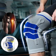 1 Stuk Siliconen Volledige Knie Brace Band Patella Mediale Ondersteuning Sterke Meniscus Compressie Bescherming Sport Pads Running Mand