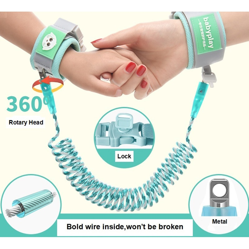 Baby Harness Anti Lost Wrist Link Kids Outdoor Walking Hand Belt Band Child Wristband Toddler Leash Safety Harness Strap Rope