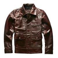 description aw18 24 read asian size genuine cow skin mens cowhide casual vintage biker leather jacket