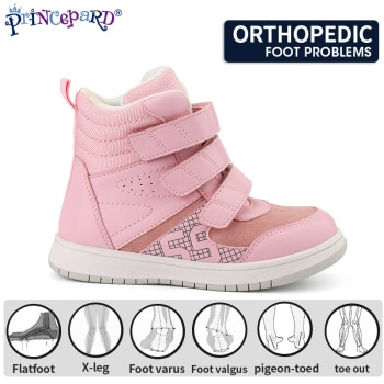 Princepard High Quality Children Baby Shoes Fashion Casual Boot Girls Kids Orthopedic Shoes for Boys Girls With Arch Support