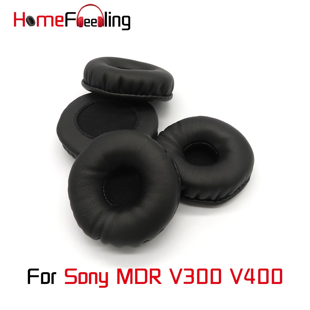 Homefeeling Ear Pads For Sony MDR-V300 MDR-V400 Earpads Round Universal Leahter Repalcement Parts Ear Cushions homefeeling ear pads for sony mdr hw300k earpads round universal leahter repalcement parts ear cushions