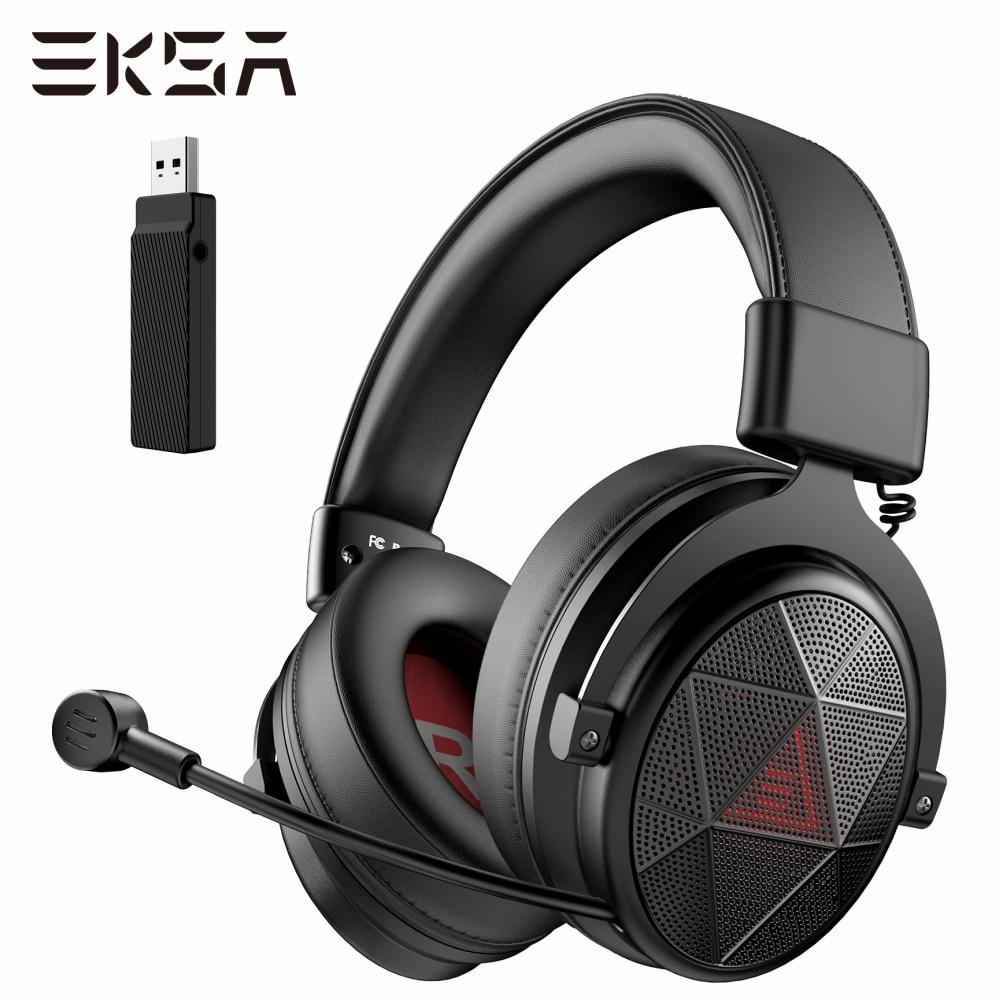 EKSA E910 5.8GHz الألعاب سماعة مع إنك ميكروفون ديرير فري 7.1 الصوت المحيطي سماعة ألعاب سماعات لاسلكية PC / PS4