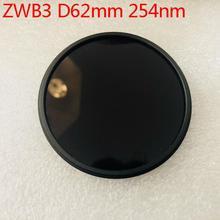 Filtre uv 254nm taille 62mm avec anneau en métal ZWB3 UG5 U-330 filtre passe-bande uv de couleur noire