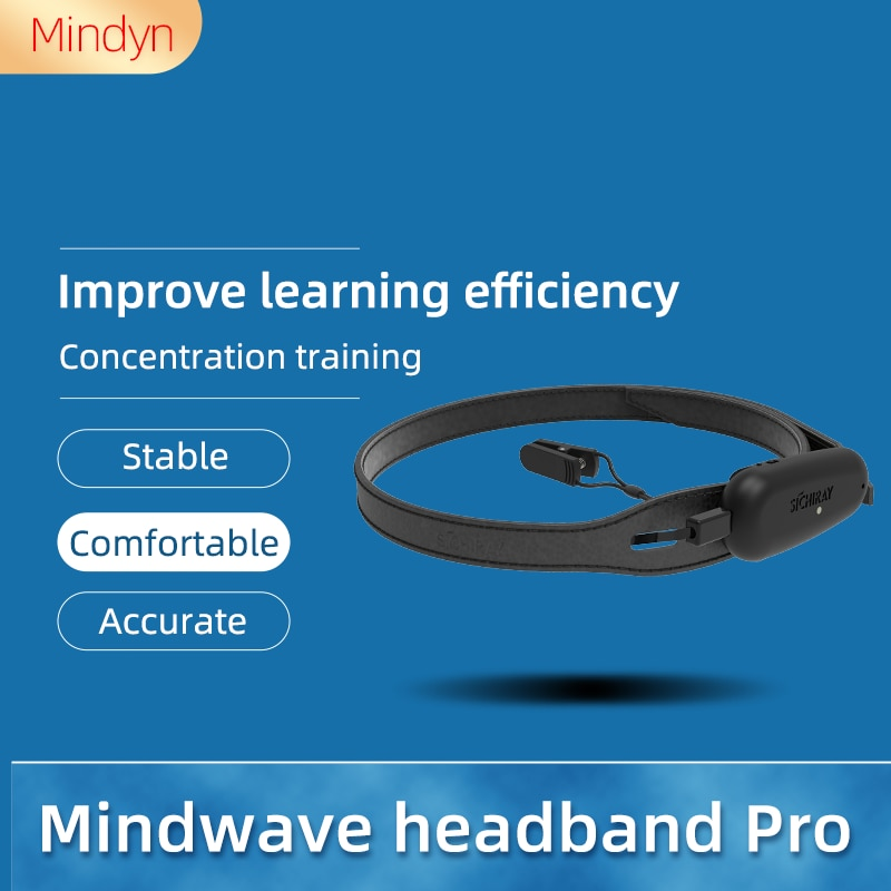 EEG Mindwave Headband Pro With Software BLE Bluetooth 2.0 4.0 Leather Band Concentration Training For Android/Windows