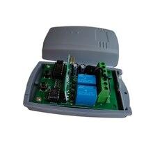 Alutech AT-4 AN Motors AT-4, mando a distancia, 433,92 MHz, código giratorio, 4 canales, receptor de control remoto para puerta de garaje