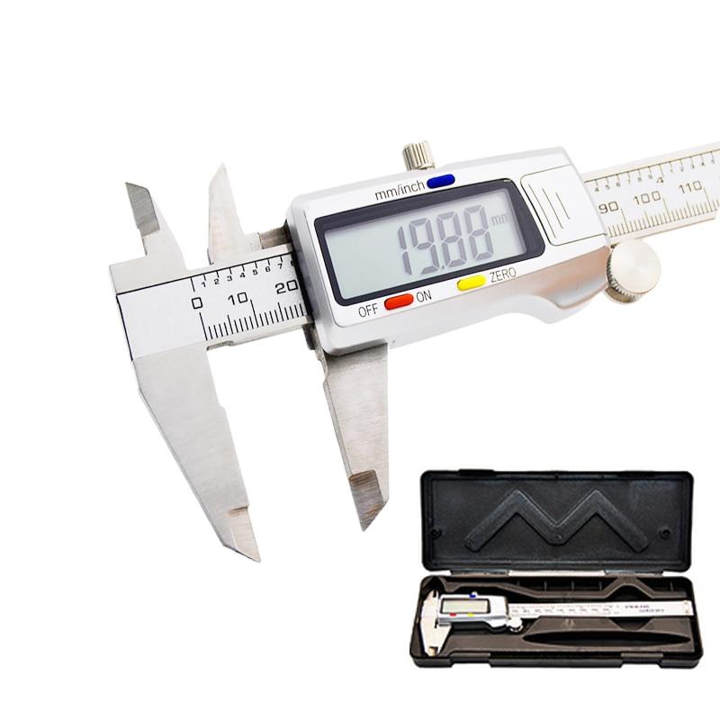 Цифровой штангенциркуль из нержавеющей стали 6 дюймов 0-150 мм измерительный инструмент металлический штангенциркуль микрометр электронный ...