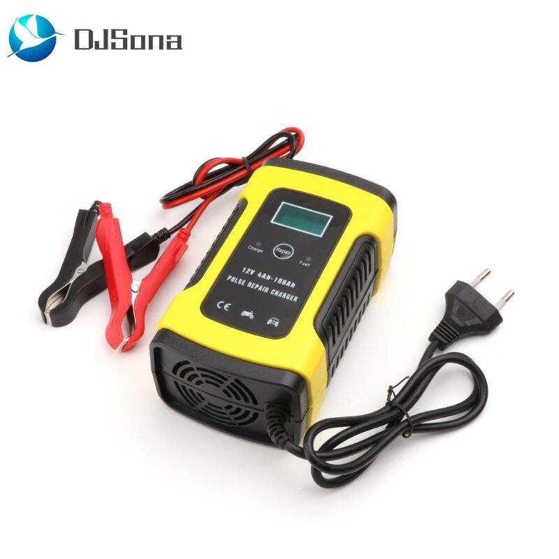 12 V автоматическое автомобильное зарядное устройство для автомобильного мотоцикла свинцово-кислотные батареи интеллектуальная зарядка 12 V Вольт 6 A AMP