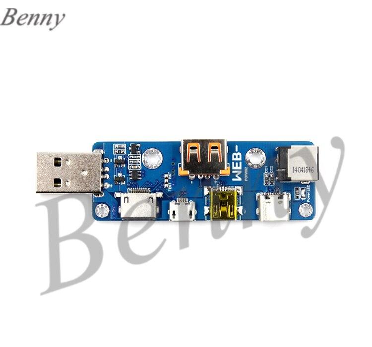Más de WEB-POW002 placa adaptadora USB multifunción MicroUSB TYPE-C DC PD
