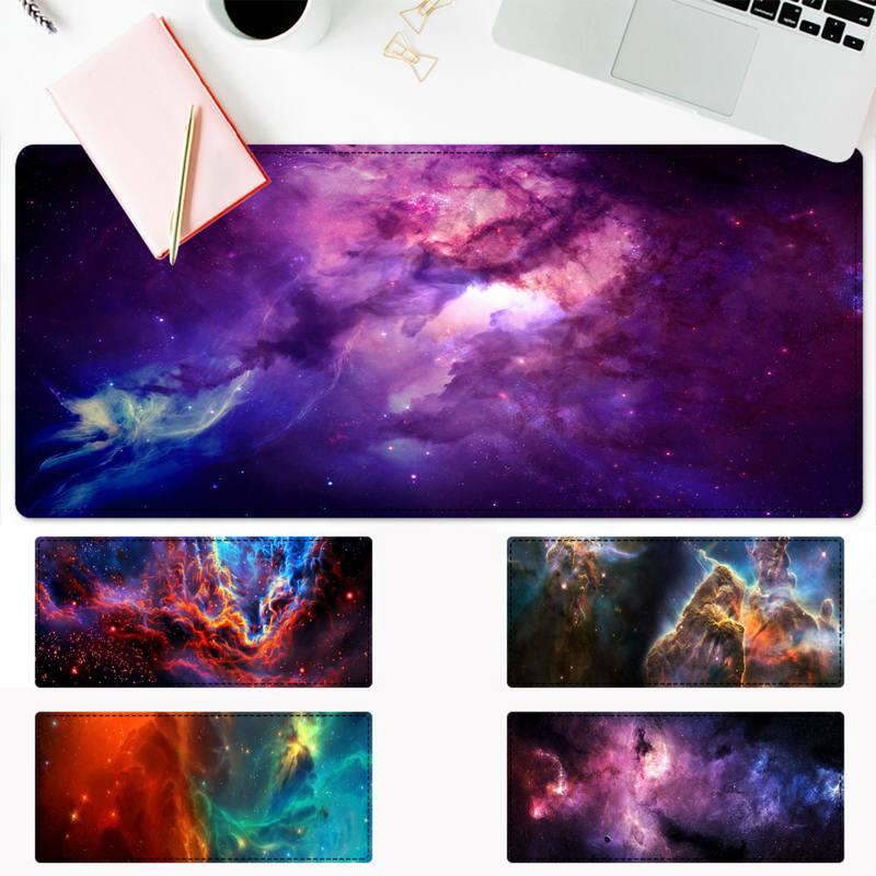 Роскошный игровой коврик для мыши с космосом и Вселенной, игровой коврик для клавиатуры, Настольный коврик для мыши, игровые аксессуары для ...